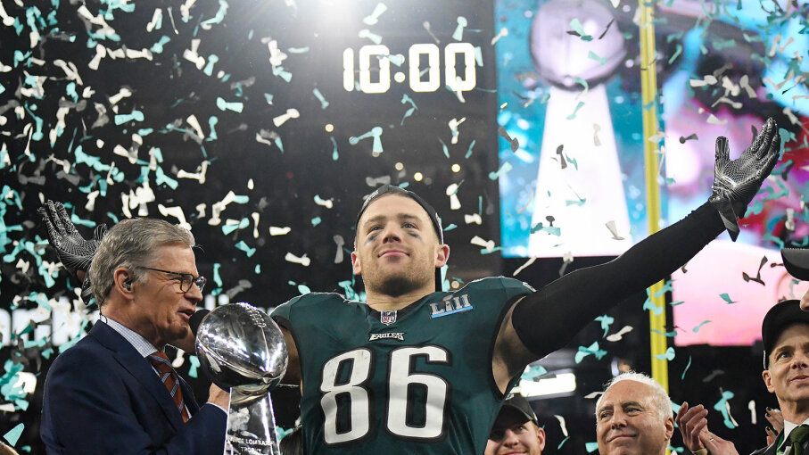 Zach Ertz , Philadelphia Eagles, Super Bowl