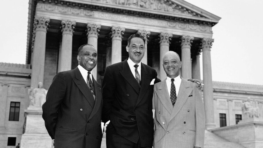 George E.C. Hayes, Thurgood Marshall and James Nabrit, Jr.,
