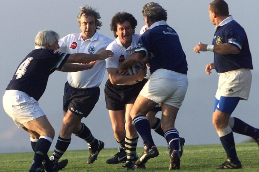 Oct. 11, 2002: Thirty years after their planed crashed, survivors from the Uruguayan rugby team Old Christians play against the veteran team Old Boys of Chile, the game the Old Christians were headed for before the accident occurred. Julio Castro/AFP/Getty Images