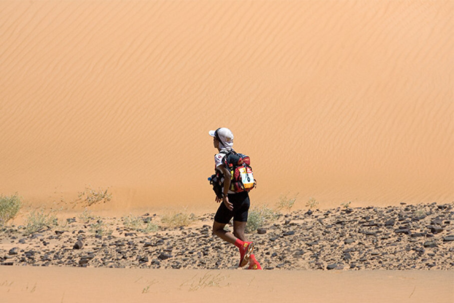 The Marathon des Sables is a six-day, 155-mile endurance race through the Sahara. When Mauro Prosperi (not pictured) first ran it in 1994, just 80 people participated. Now, he says, with more than a thousand racers, it's impossible to get lost. © Christophe Dupont Elise /Icon SMI/Corbis