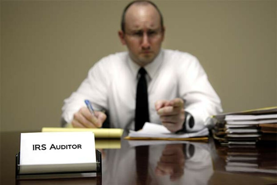 This is how we usually imagine an IRS audit would go. But it's not the truth. eric1513/iStock/Thinkstock