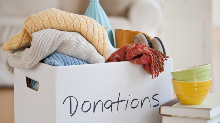 box of clothes donations