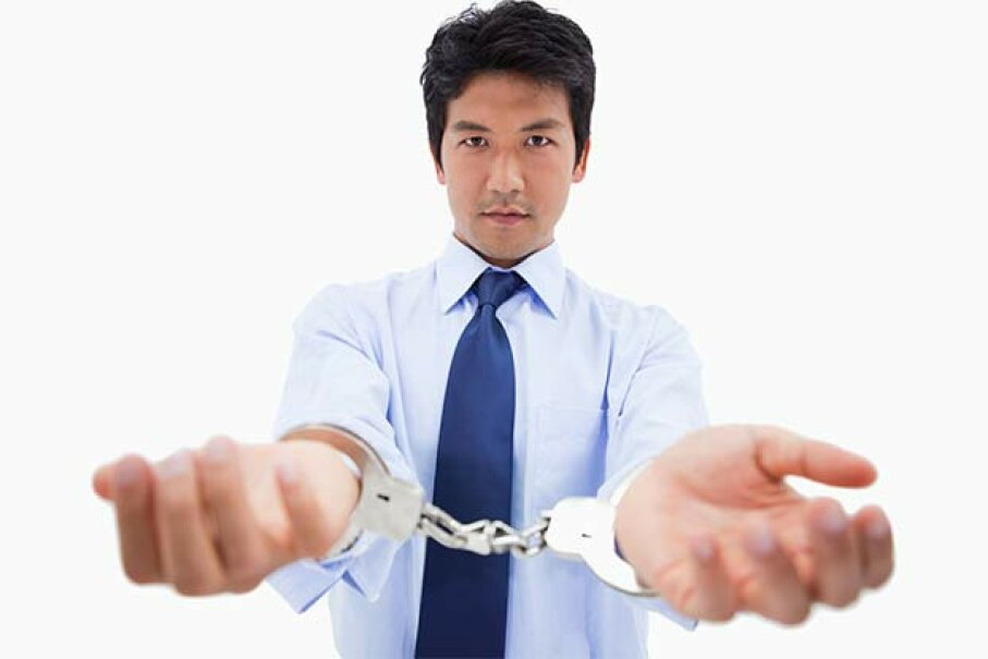 No need to worry about handcuffs: The IRS won't haul you off to jail -- unless you are found guilty of tax fraud. Wavebreak Media/Thinkstock