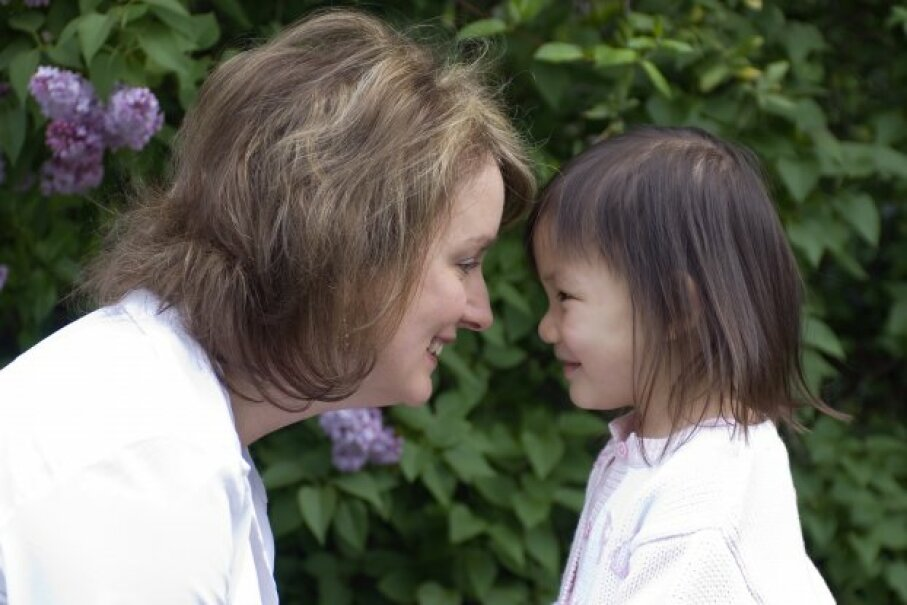 If you're a single parent who adopted a child, you can qualify for an adoption credit. Thomas Perkins/iStockphoto/ThinkStock
