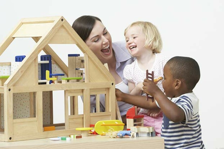 Certain daycare centers qualify for tax-exempt status. omgimages/iStock/Thinkstock