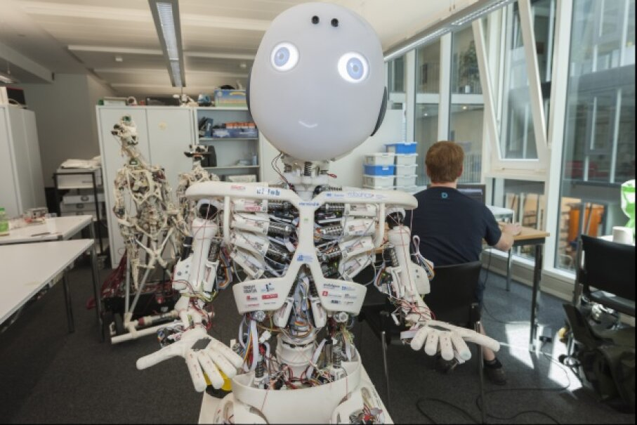 If humans are going to spend a lot of time with robots, like this humanoid one dubbed ROBOY, the machines are going to have to get a little better at predicting what seemingly unpredictable humans will do next.  © Erik Tham/Corbis