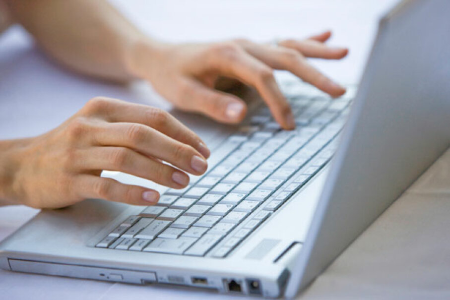 Even if you close all windows and completely shut down chatting software, a record of your messages may still be logged on your computer's hard drive. ©iStockphoto.com/webphotographeer
