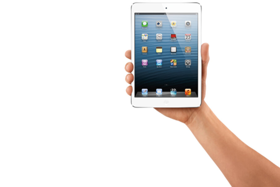 The iPad Mini launched in late 2012 after nearly a year's worth of speculation about whether or not Apple would market a smaller tablet. Courtesy Apple Inc.