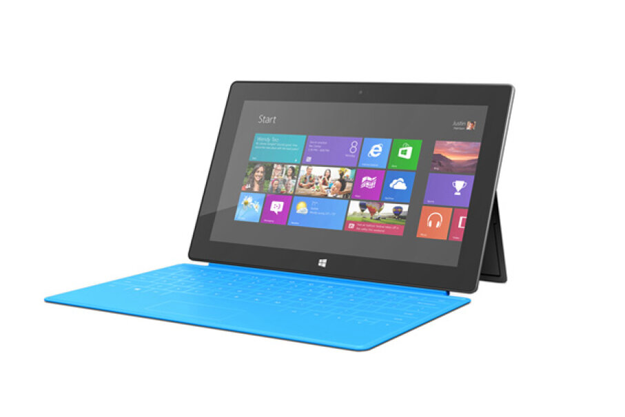 The Surface is Microsoft's official entry into the tablet market. Courtesy Microsoft
