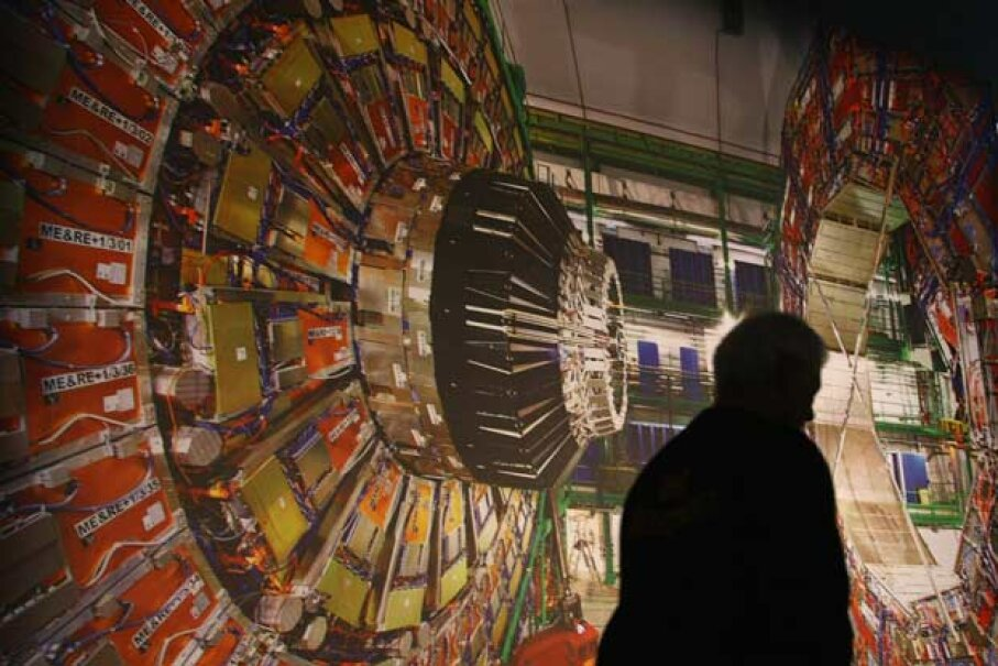 A photo of the CMS detector at the Large Hadron Collider -- this enormous device looks for subatomic evidence of what makes our universe tick. Sean Gallup/Getty Images News/Getty Images