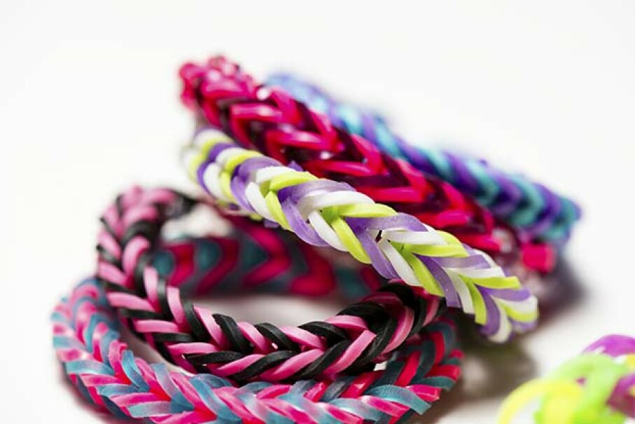 Among the reuses for rubber bands? Colorful bracelets! aijjohn784/iStock/Thinkstock