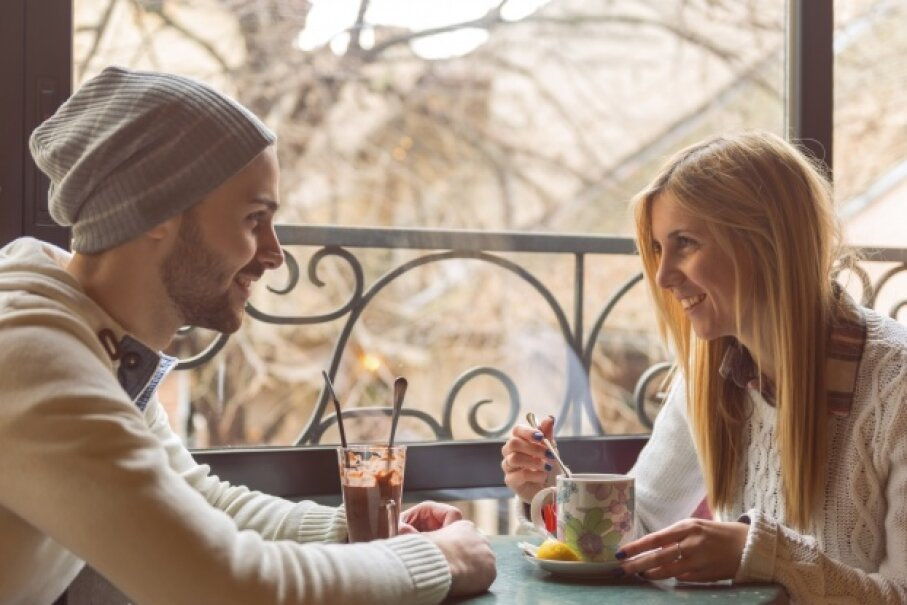 Restaurants report that while they see more first dates happening, those dates are longer and cheaper. StockRocket/iStockphoto