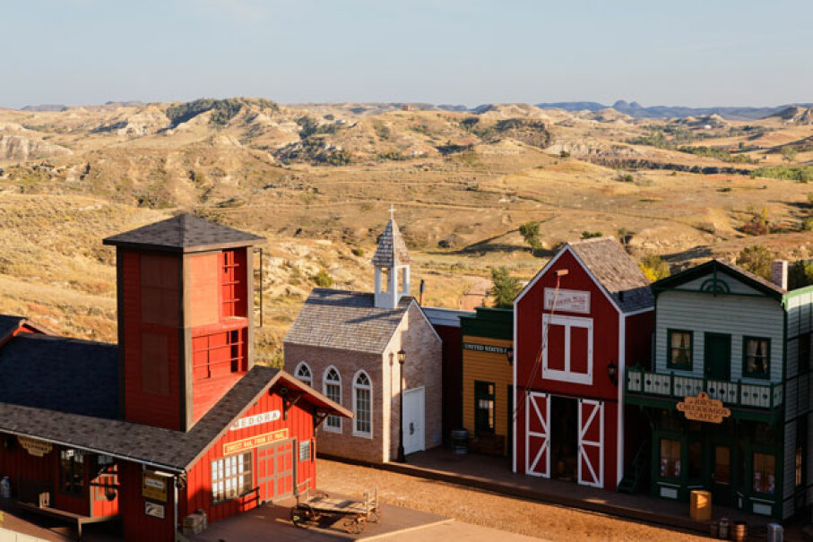 The stage for the Medora Musical certainly looks the part of Old West town. © Franz-Marc Frei/Corbis