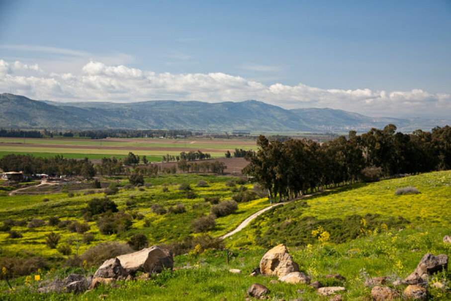 Golan Heights is known for stunning scenery. © Richard T. Nowitz/Corbis
