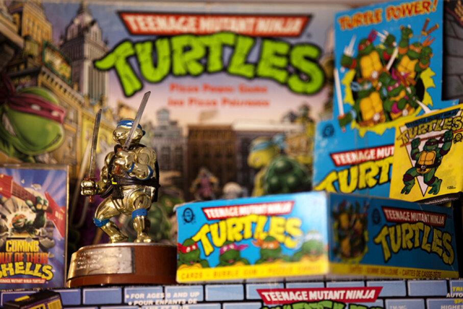 Classic TMNT toys have become highly collectible pop-culture items. © Peter Power/ZUMA Press/Corbis