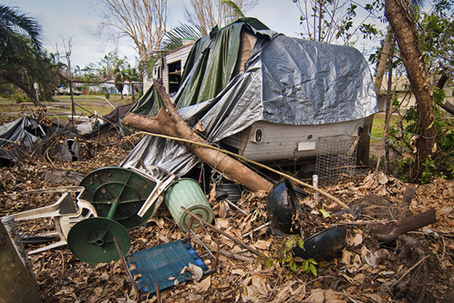 It's not that trailer parks attract more tornadoes; mobile homes are simply not as stable as permanent homes. greenantphoto/iStock/Thinkstock
