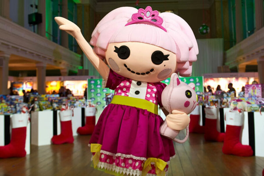 Lalaloopsy promotional mascot at the Toy Retailers Association's annual 'Dream Toys' fair on Oct. 31, 2012 ©Bethany Clarke/Getty Images