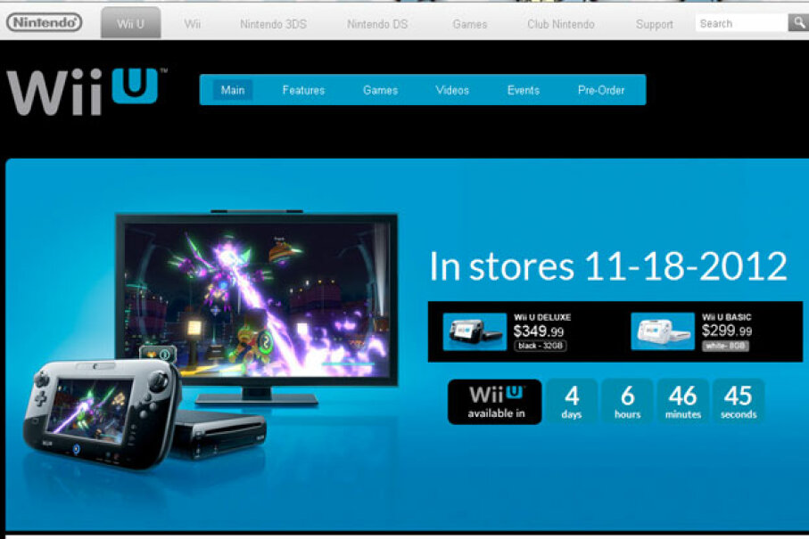 In the weeks leading up to the Wii U's U.S. release, Nintendo had an online countdown clock ticking away the minutes until the console would be available to consumers. Screen capture by HowStuffWorks