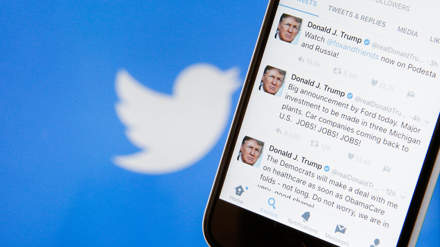 President Donald J. Trump isn't the first American president to use social media, but his affection for the medium raises questions. Jaap Ariens/NurPhoto/Getty Images