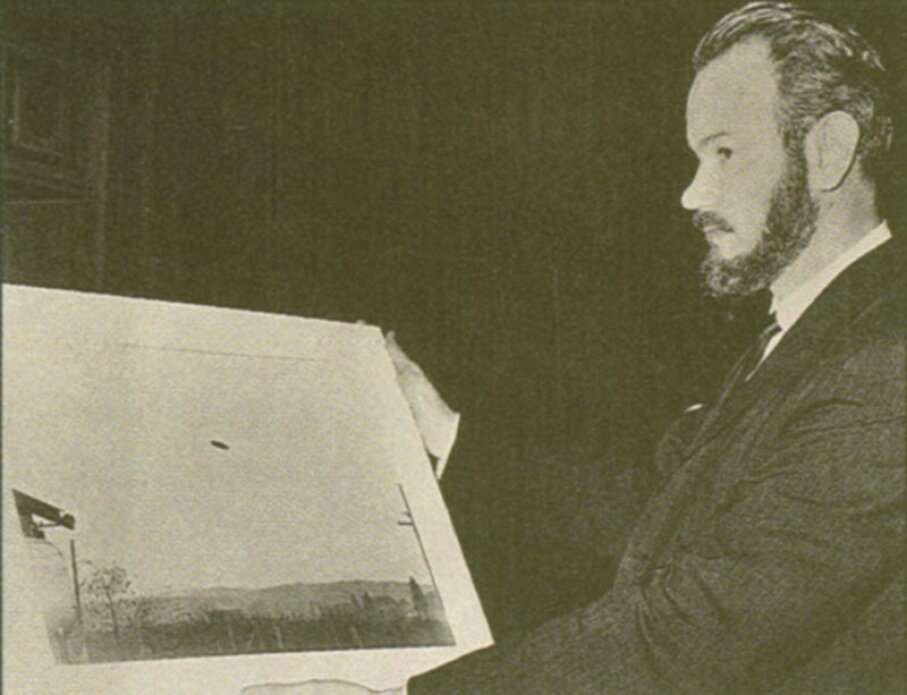 John Keel was a controversial UFO theorist who espoused the strange UFO theory of ether ships. Fortean Picture Library