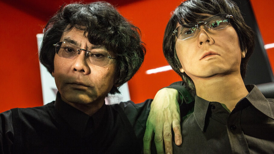 Roboticist Hiroshi Ishiguro (L) created an extremely lifelike android replica of himself. Alessandra Benedetti - Corbis/Corbis via Getty Images