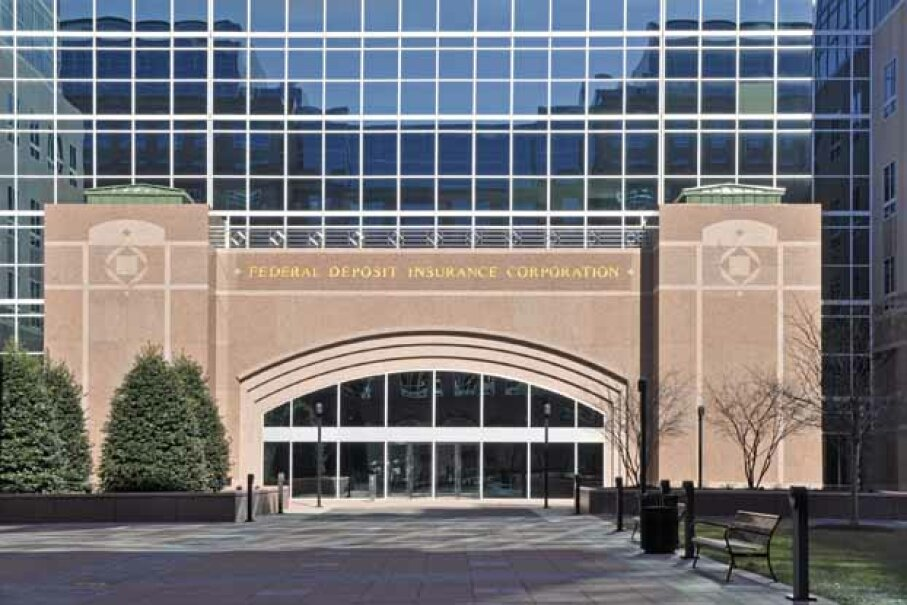 The exterior of the FDIC, which processes payments for failed banks. Christina Richards/iStock/Thinkstock