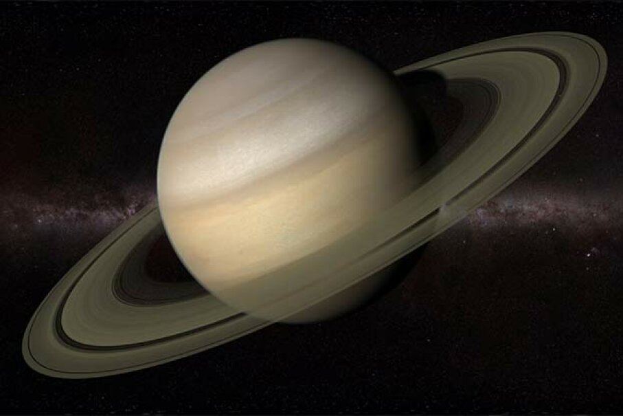The Cassini spacecraft picked up separate spooky signals from Saturn's north and south poles in 2009. SCIEPRO/Thinkstock