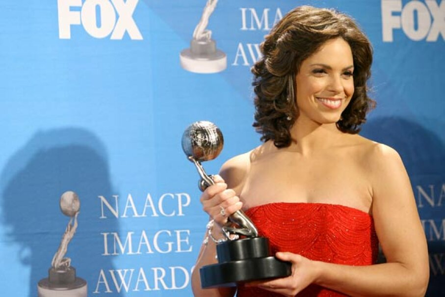 Soledad O'Brien accepting the NAACP President's Award in 2007. M. Tran/FilmMagic/Getty Images