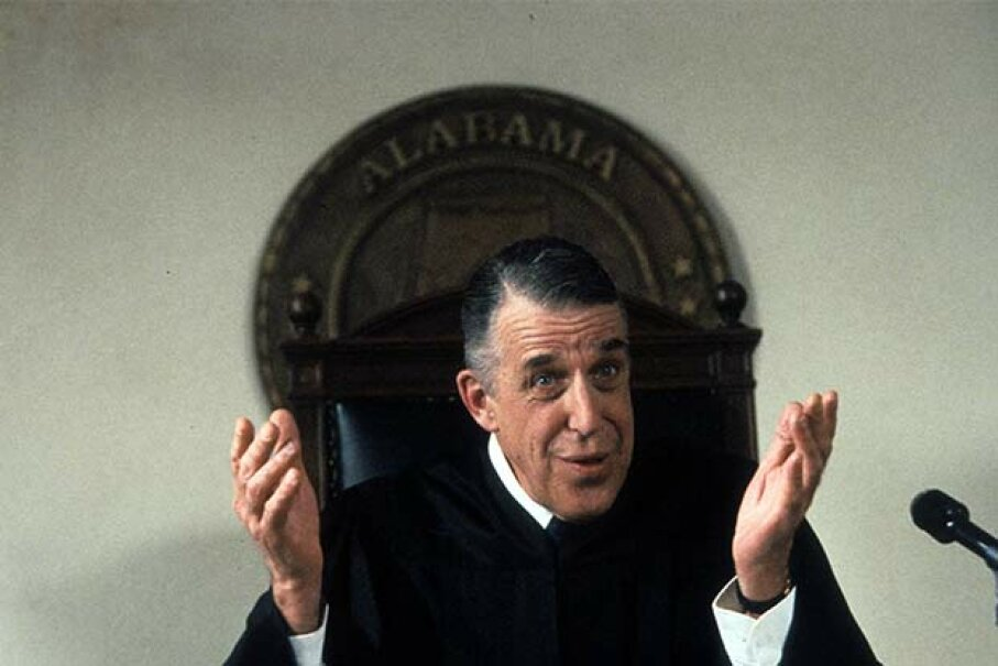 Fred Gwynne plays against type as a judge in the 1992 film 'My Cousin Vinny.' 20th Century-Fox/Getty Images