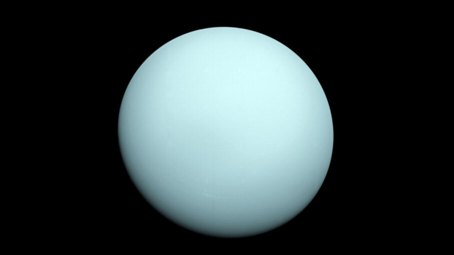 Uranus photo by Voyager 2