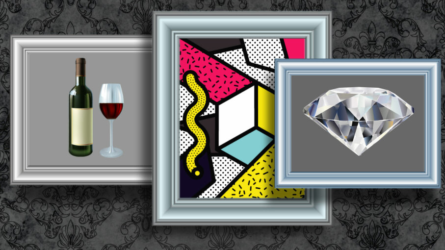 Art, wine diamonds