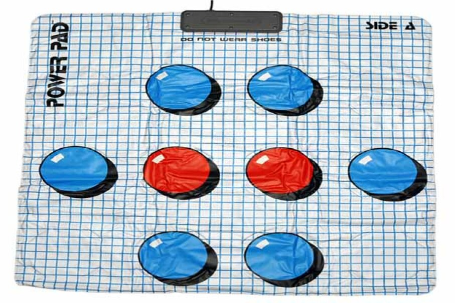 While the NES Power Pad didn't work so well as a game controller, it does make an awesome area rug. Evan-Amos/Wikimedia Commons