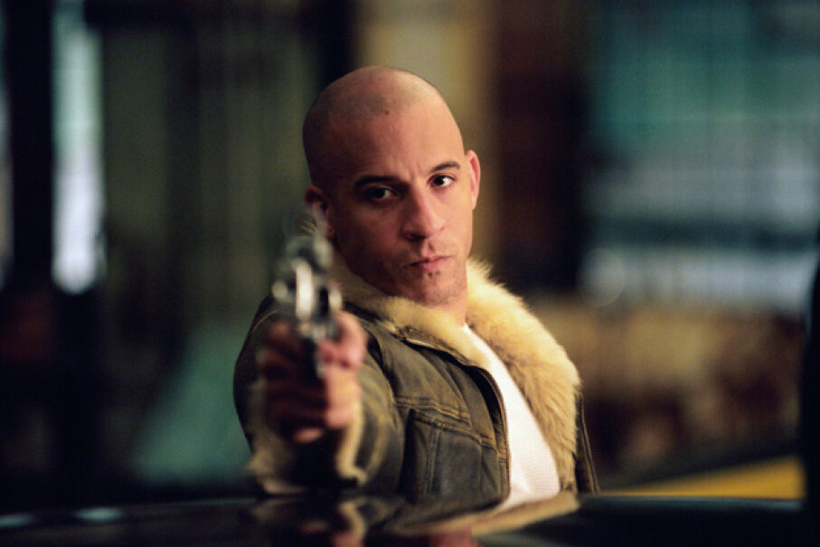 """Vin Diesel in a scene in the 2002 film """"xXx."""" Murray Close/Getty Images"""