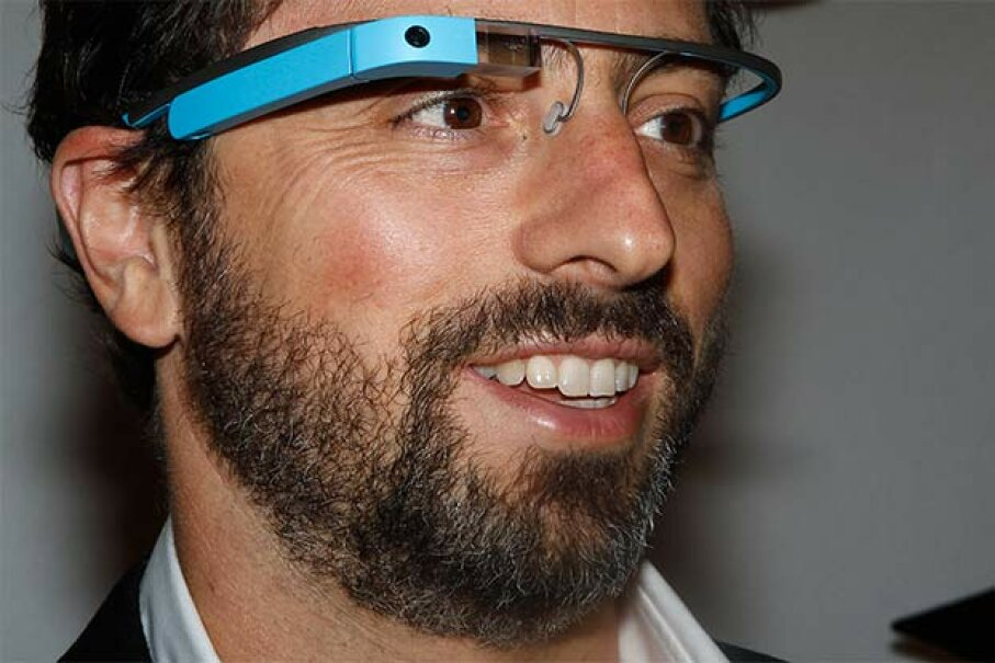 Google founder Sergey Brin poses for a portrait wearing Google Glass. Unfortunately, people found the glasses creepy and unstylish. Google has discontinued production.  © CARLO ALLEGRI/Reuters/Corbis