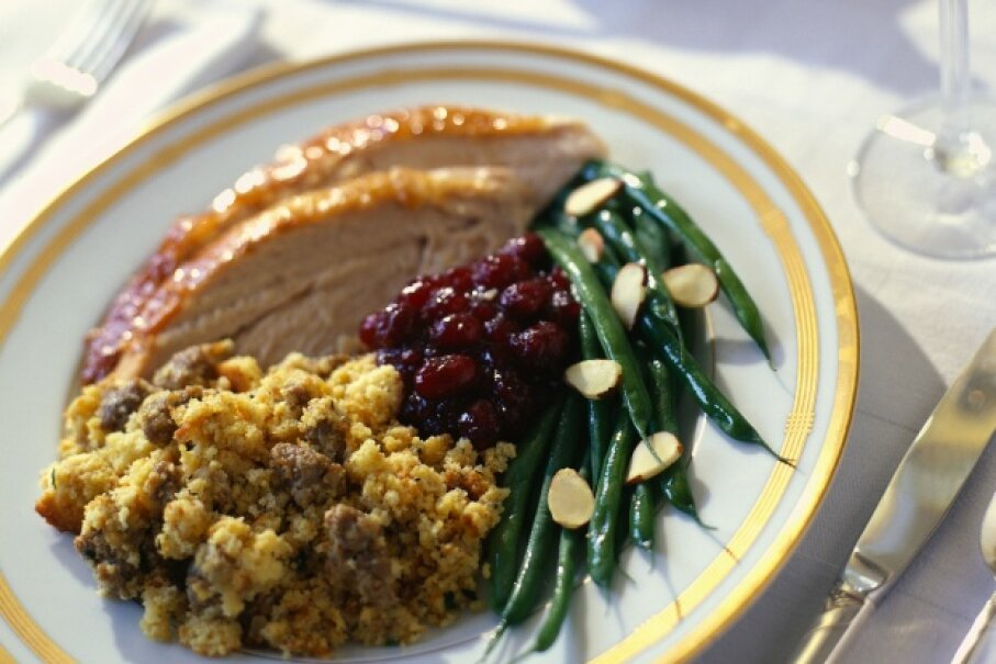 Stuffing is a standard part of the holiday meal, but some kitchen daredevils like to try more unique spins on the dish. © Rick Barrentine/Corbis