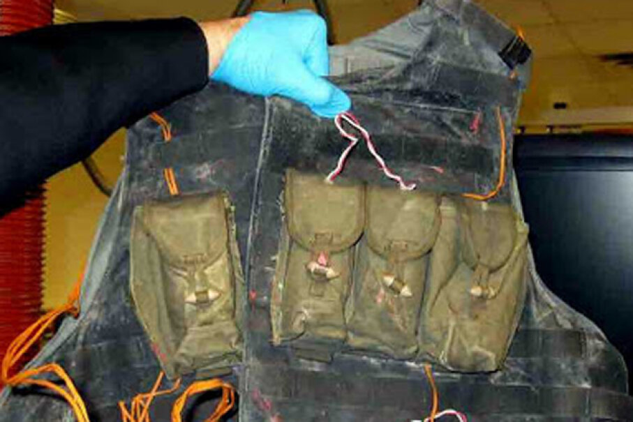 This fake suicide vest was taken from a passenger's carry-on by a TSA agent. Transportation Security Agency