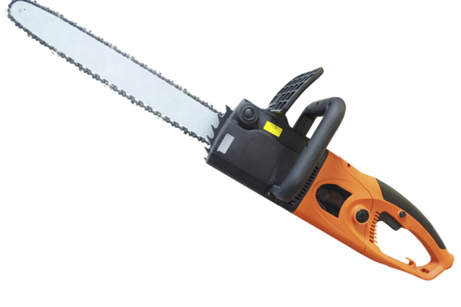TSA agents spotted a gassed-up chain saw resembling this one in a passenger's luggage. uatp2/iStock/Thinkstock