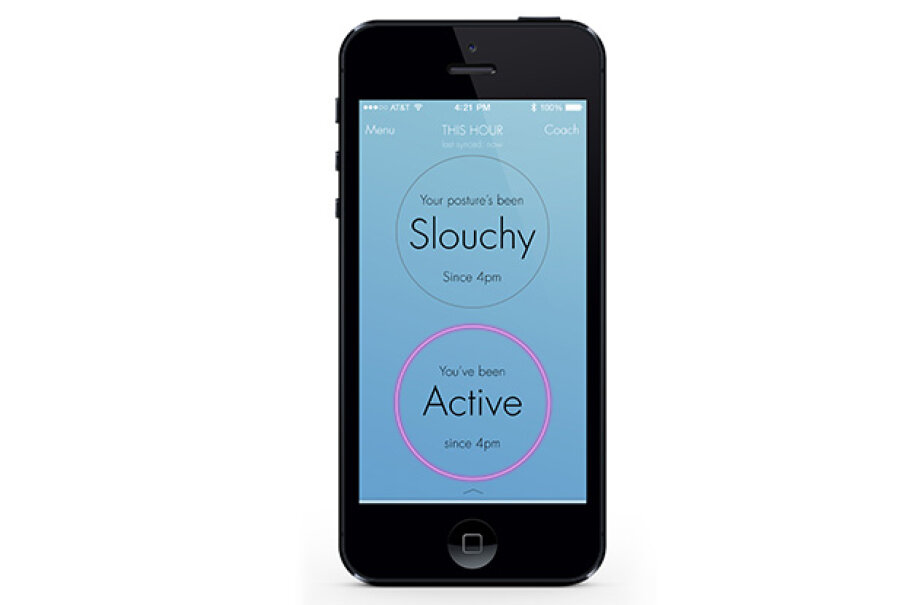 The Lumo Lift app functions acts like your mother, reminding you to sit up straight. LUMO BodyTech