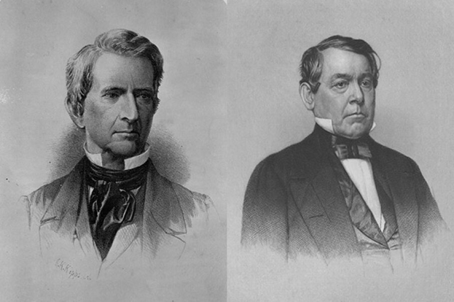 New York Sen. William Seward (left) and Ohio Rep. Thomas Corwin introduced the Corwin Amendment, an effort to protect the institution of slavery ... forever. Kean Collection/Staff/Getty Images and Library of Congress/Corbis Historical/Getty Images