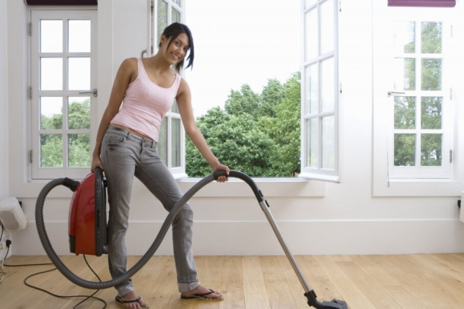 Use that vacuum on your windows to start the job off right. © Juice Images/Corbis