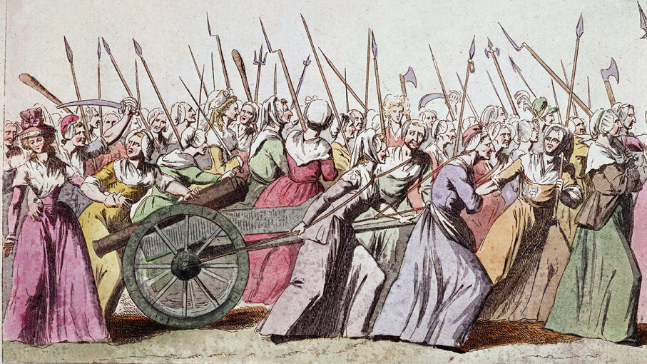 In 1789, French revolutionaries and market women converged at the Palace of Versailles in what would become a crucial moment in the French Revolution. Leemage/Corbis via Getty Images