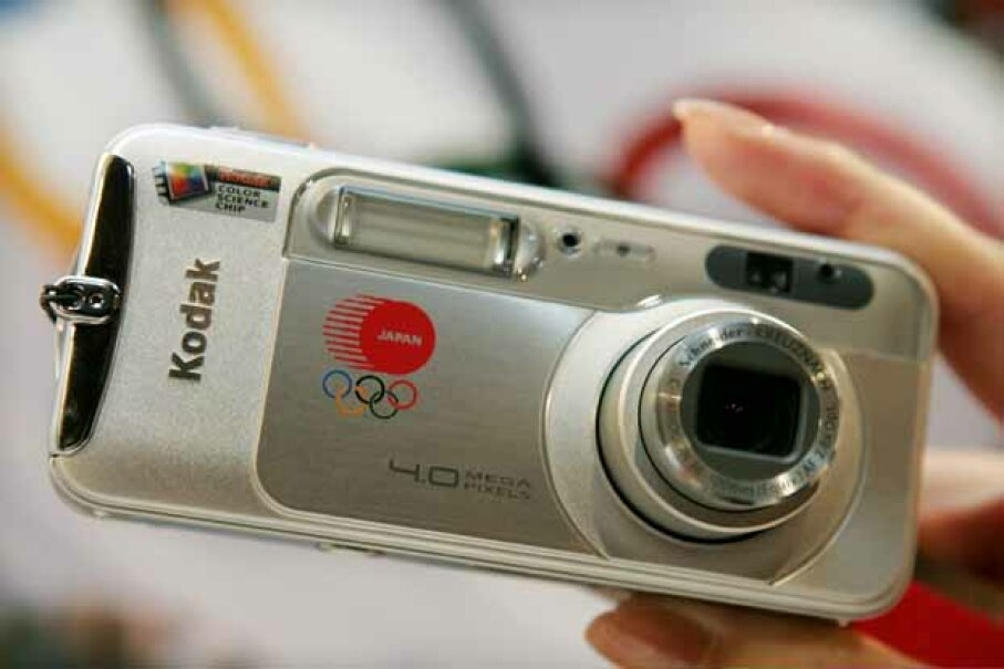 Eastman Kodak unveiled an Olympic Games commemorative limited edition compact digital camera in 2004. Now, they're out of the camera business. © ISSEI KATO/Reuters/Corbis