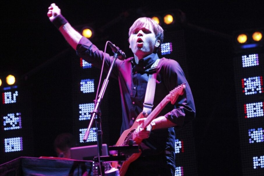 Ben Gibbard of The Postal Service performs during the Coachella Music Festival in Indio, Calif., on April 13, 2013. © Mario Anzuoni/Reuters/Corbis