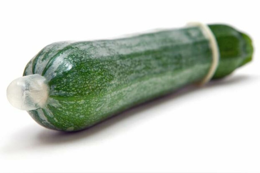 First wrong thing: There's air in the end. Second wrong thing: It's on a zucchini. iStockphoto/ThinkStock